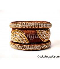 Kakki Grand Kada Bridal Silk Thread Bangle Set