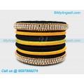 Black colour silk thread bangles