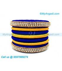 Royal Blue Colour Silk Thread Bangles