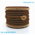 Kakki Colour Silk Thread Bangles