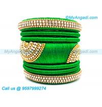 Lime Green Silk Thread Bangles