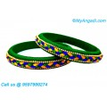 Dark Green Silk Thread Bangles