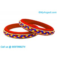 Red Colour Silk Thread Bangles