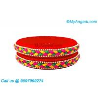 Orange Colour Silk Thread Bangles