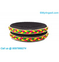 Black colour Silk Thread Bangles