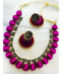 Silk Thread Necklace