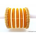 Ivory Colour Silk Thread Bangles