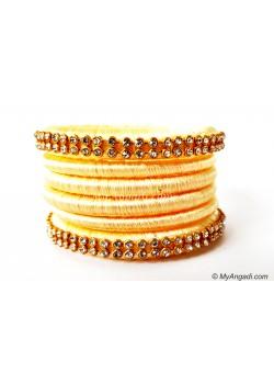 Ivory Colour Silk Thread Bangles
