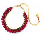 Youth Magenta Silk Thread Necklace