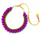 Youth Puple Silk Thread Necklace