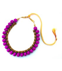 Youth Puple Silk Thread Necklace