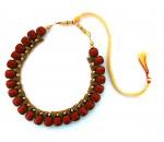 Youth Maroon Silk Thread Necklace