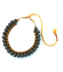 Youth Grey Silk Thread Necklace