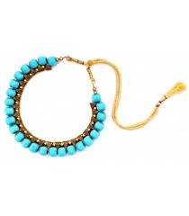 Youth Turquoise Blue Thread Necklace
