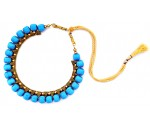 Youth Blue Silk Thread Necklace
