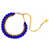 Youth Royal Blue Silk Thread Necklace