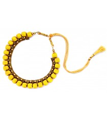 Youth Yellow Thread Necklace