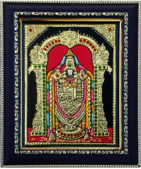 Tirupathi Balaji / Venkateswara Perumal Small Size Tanjore Paintings