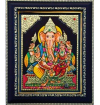 Lakshmi Ganesha Tanjore Paintings