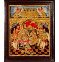 Ramar Pattabhishekam Tanjore Painting Tanjore Painting