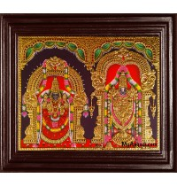 Tirupati Venkatachalapathi and Alamelu Tanjore Painting