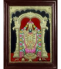 Balaji with Lakshmi Tanjore Painting
