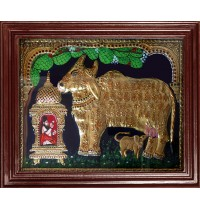Komatha with Saint Tanjore Painting