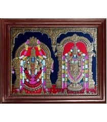 Balaji and Alamelu Amman Tanjore Paintings