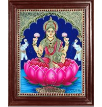 Lakshmi in Lotus Tanjore Paintings