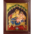 Krishna and Mother Yasoda Tanjore Paintings
