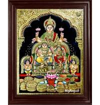 Kuber Lakshmi Tanjore Painting