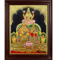 Kuber Laxmi Tanjore Painting