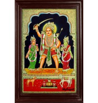 Madurai Veeran Tanjore Painting