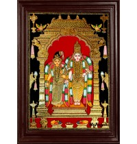 Aandal Vishnu Tanjore Painting