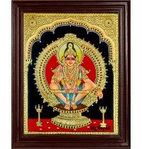 Ayyappa Swamy Tanjore Painting