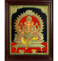 God Ganesha Tanjore Painting