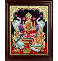 Lakshmi Saraswati Ganesha Tanjore Painting.jpg