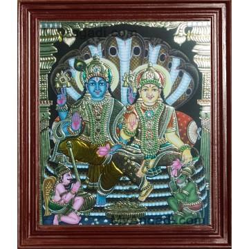 Vishnu Lakshmi Tanjore Paintings