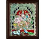 Shiva Family Tanjore Paintings