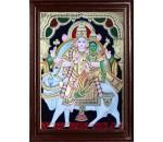 Pradosham Sivan and Parvathi Tanjore Paintings