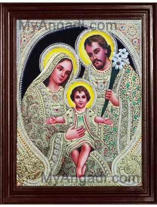 Jesus, Mary and Joseph Tanjore Paintings