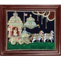 Krishna and Arjuna Geetha Upadesam Tanjore Paintings