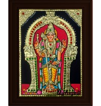 Murugan Small Tanjore Painting