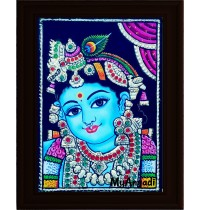 Krishna Small Tanjore Painting