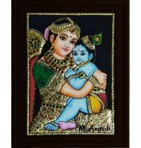 Yasodha Krishna Small Tanjore Painting