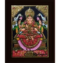 Iswarya Lakshmi Small Tanjore Painting