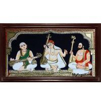Sangeetha Mummoorthigal Tanjore Painting