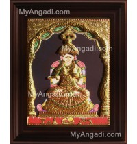 Annapoorani Emboss Tanjore Painting, Traditional Annapoorani Tanjore Painting