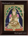 Annapoorani Frame Tanjore Painting, Traditional Annapoorani Tanjore Painting