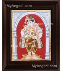 Antique Mappillai Krishna Tanjore Painting, Krishna Tanjore Painting